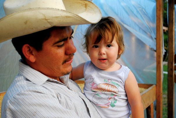 A UMF farmer & his daughter