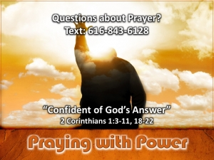 Confident of God's Answer