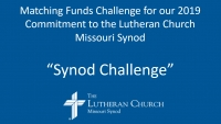 Synod Challenge - Matching Funds