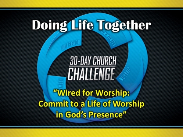 Wired for Worship: Commit to a Life of Worship in God's Presence""